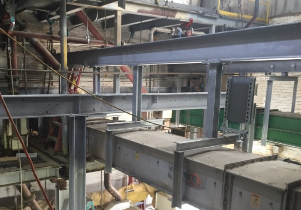 Increasing beam size, hung conveyors, increased load capacity